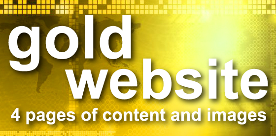gold website - 4 pages of content and images